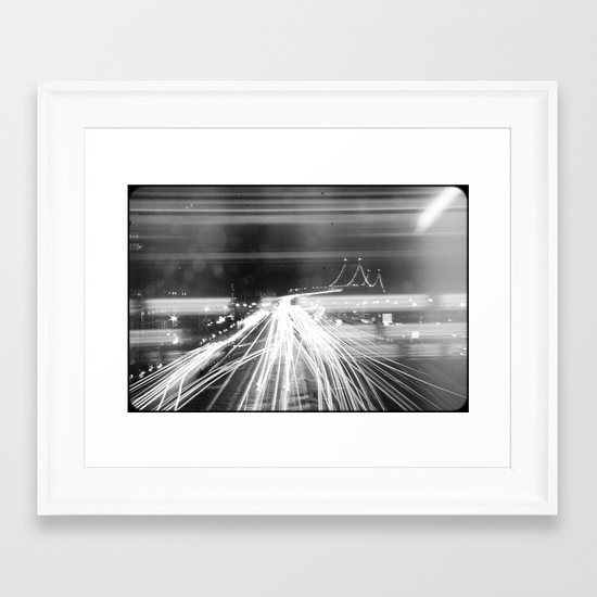 The Night Vibes Electric Framed Art Print