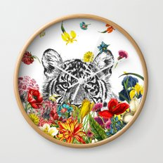 Happy Tiger Wall Clock