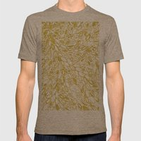 Golden Doodle Petals Mens Fitted Tee Tri-Coffee SMALL