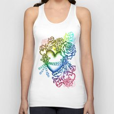 my chained heart Unisex Tank Top