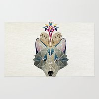 Wolf And Owls Rug
