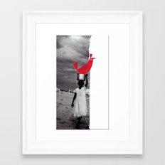 Bird Bath Framed Art Print