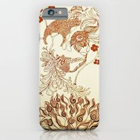 iPhone Cases featuring Blooming Skull by Tiffany Saffle