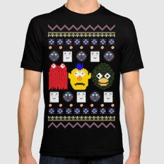 Don't Hug Me I'm Sweater SMALL Black Mens Fitted Tee