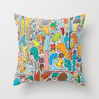 Morning Report Color Throw Pillow