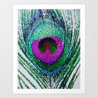 Peacock Bright Art Print