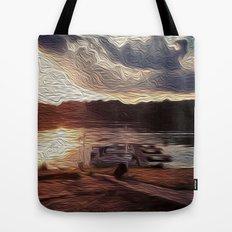 Oily Pontoons Tote Bag