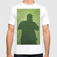 Shadow Man Mens Fitted Tee White SMALL