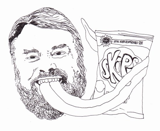 Brian Blessed With Skips Canvas Print
