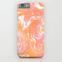 iPhone Cases featuring Suminagashi 2 by Dr. Sonia Blightheart