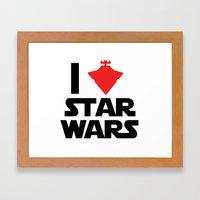 I Heart Star Wars Framed Art Print