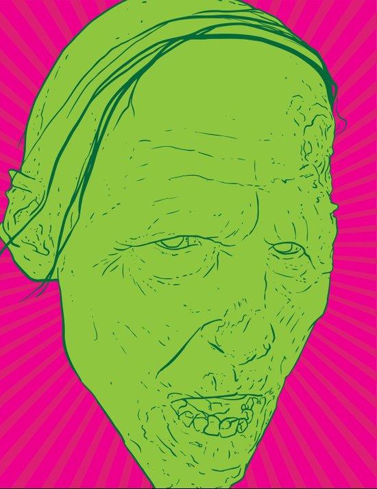 Neon Zombie Art Print
