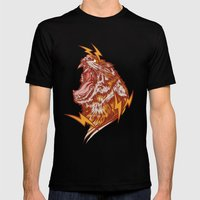 Tiger Shock Mens Fitted Tee Black SMALL