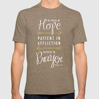 Romans 12:12 Mens Fitted Tee Tri-Coffee SMALL