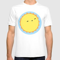 The Sun White SMALL Mens Fitted Tee