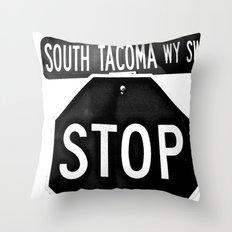 South Tacoma Stop Throw Pillow