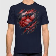 Red Dead Ninja Pool Body… Mens Fitted Tee Navy SMALL
