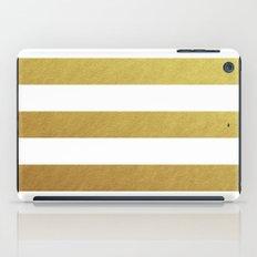 gold stripes iPad Case