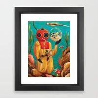 Fish Tank Framed Art Print