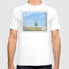 Google Street View SMALL White Mens Fitted Tee