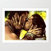 Agron and Nasir  Art Print