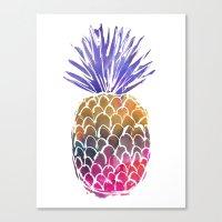 GoodVibes Pineapple Canvas Print