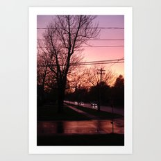 Sunset on Elm St.  Art Print