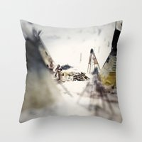 Tom Feiler Aboriginal Mother and Child Throw Pillow