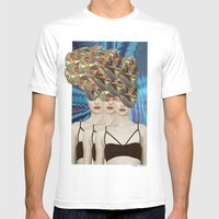 Threesome Mens Fitted Tee White SMALL