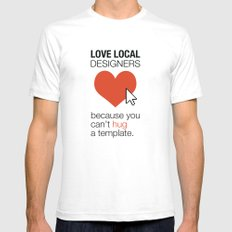 Love Local Designers SMALL White Mens Fitted Tee
