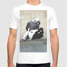 BANKSY  SMALL White Mens Fitted Tee