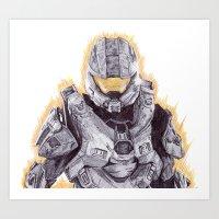 Halo Master Chief Art Print