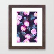 Twilight Roses Framed Art Print