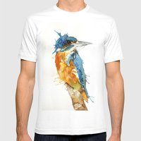 Mr Kingfisher Mens Fitted Tee White SMALL