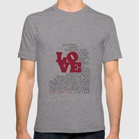 LOVE. 1 Corinthians 13:4-8. Mens Fitted Tee Athletic Grey SMALL