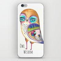 Owl Wisdom iPhone & iPod Skin