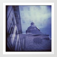 Holga Double Exposure: Eglise Saint-Paul-Saint-Louis, Paris  Art Print