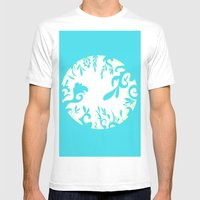 Abstractly Blue  Mens Fitted Tee White SMALL