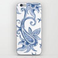 Paisley: Monaco Blue iPhone & iPod Skin