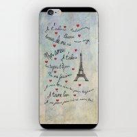 Paris Amour Valentines Design  iPhone & iPod Skin
