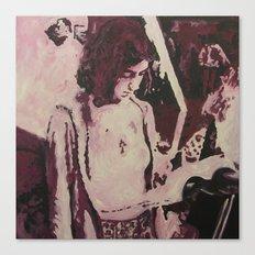 Maroon Lisa Canvas Print