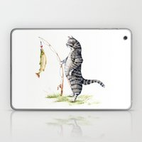 Cat With A Fish Laptop & iPad Skin