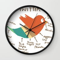 Twitter Wall Clock