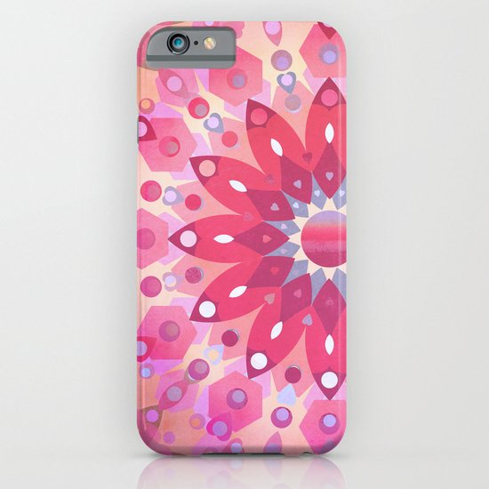 Tropical Pink Floral Mandala iPhone & iPod Case