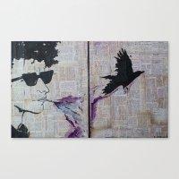 Bob Dylan: Like A Crow Canvas Print