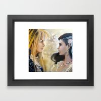 Labyrinth When The World… Framed Art Print