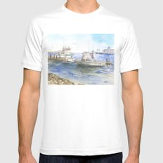 Tranquility White Mens Fitted Tee SMALL