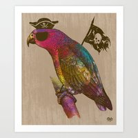 Parrot [pirate] Art Print