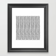 Knit Outline Zoom Framed Art Print