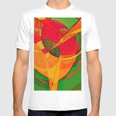 Tropical Farm Woman Mens Fitted Tee White SMALL